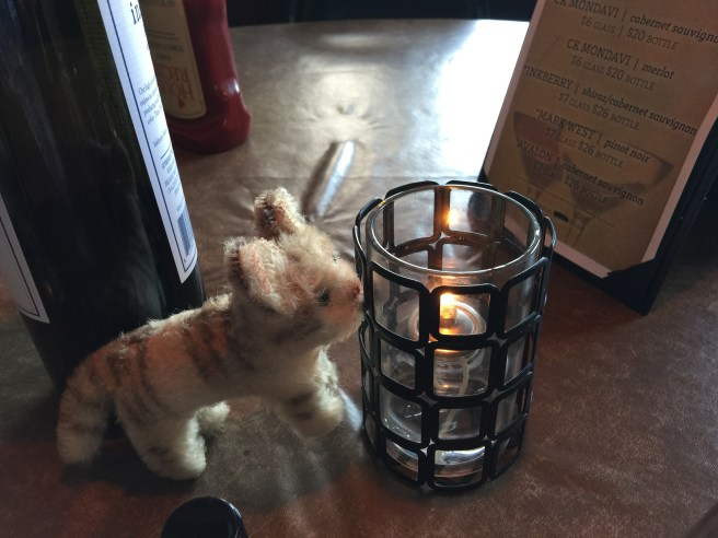 Frankie warmed her nose with the candle