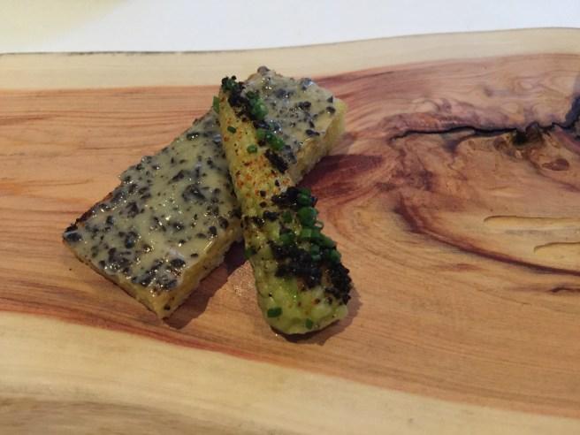 Brentwood corn chawan mushi, black truffle