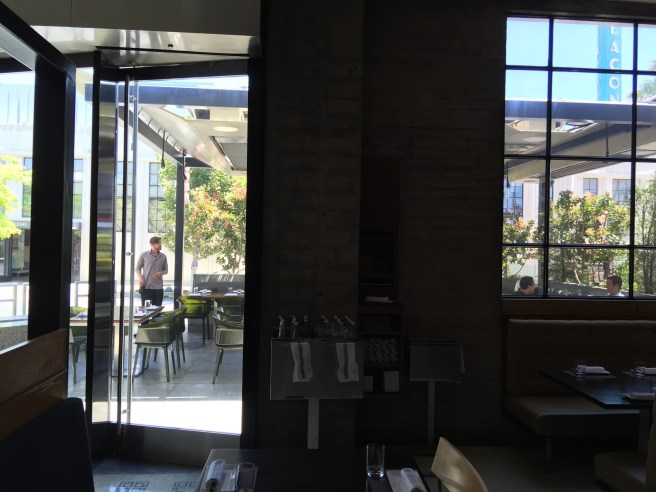 looking through to the patio