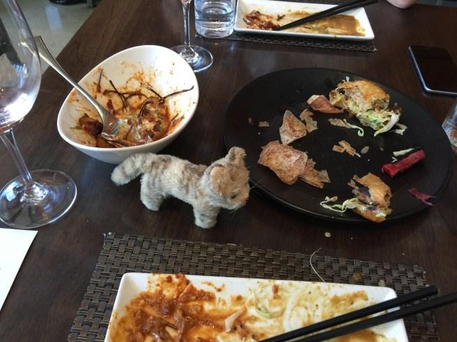 Frankie surveyed the leftovers