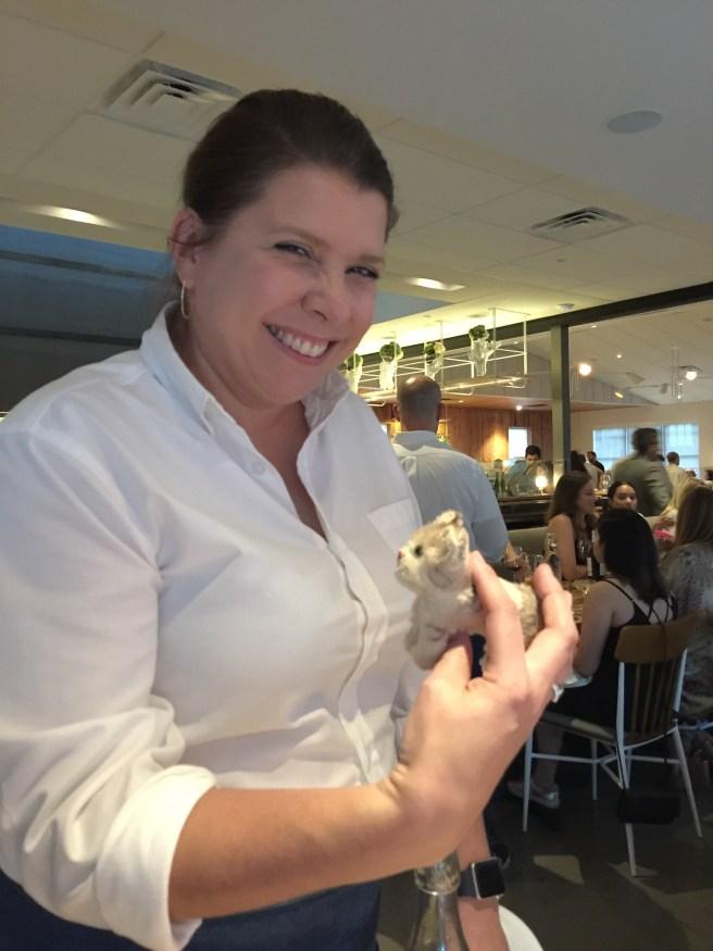 Waitress Kristin and Frankie