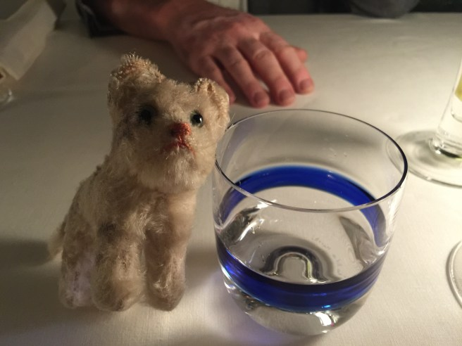 Frankie found another pretty water glass