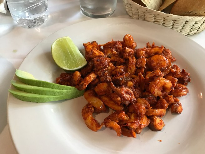 Shrimp and octopus