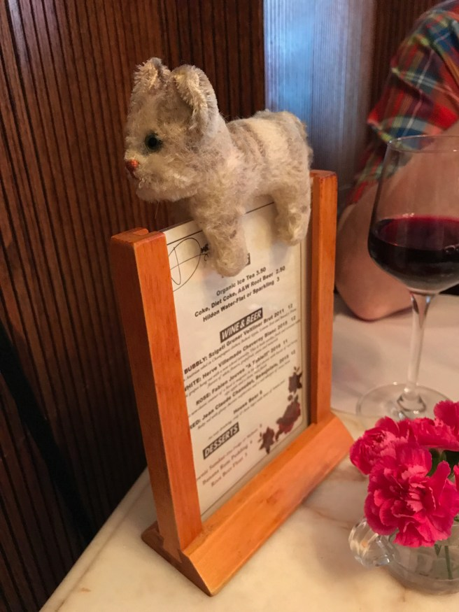 Frankie checked out the table menu