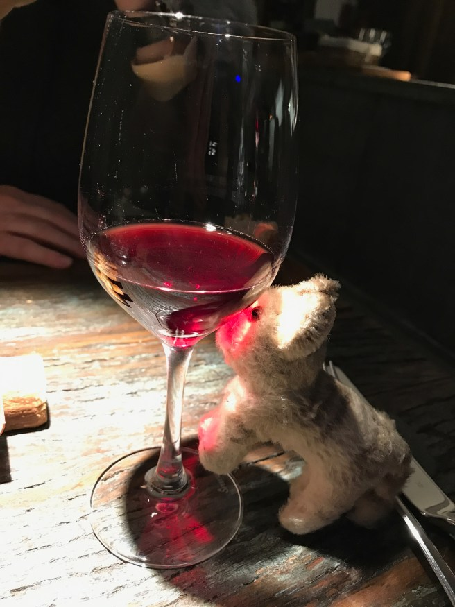 Frankie liked the color of this wine