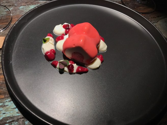 violet, pomegranate and yogurt