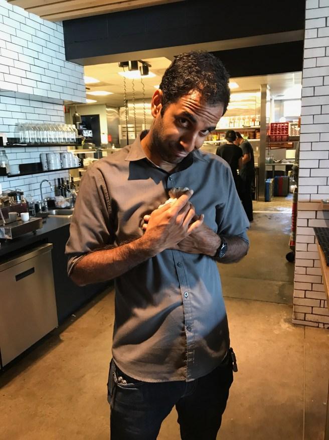 Bartender/waiter Ankur and Frankie