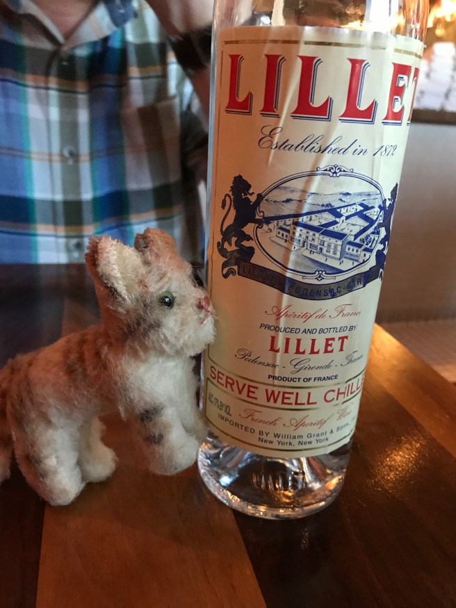 Frankie liked the Lillet bottle for water