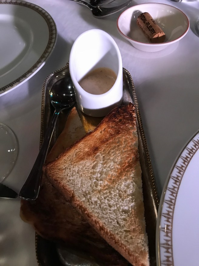 toast and additional sauce