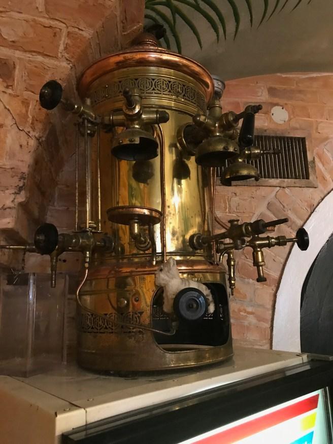 Frankie found an old coffee machine