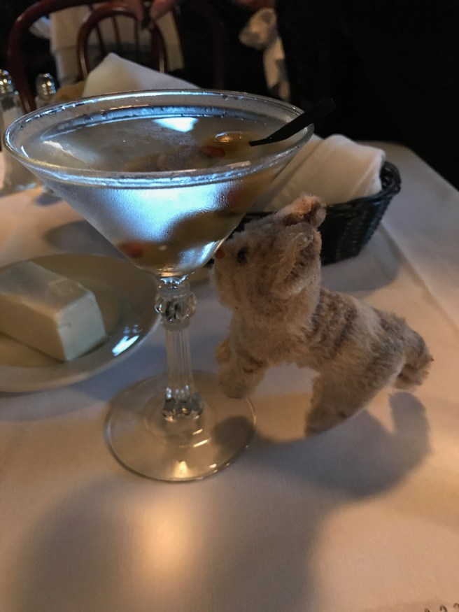 Frankie is a martini fan