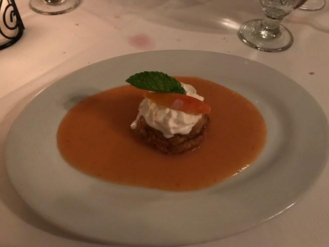 Peach bread pudding du jour