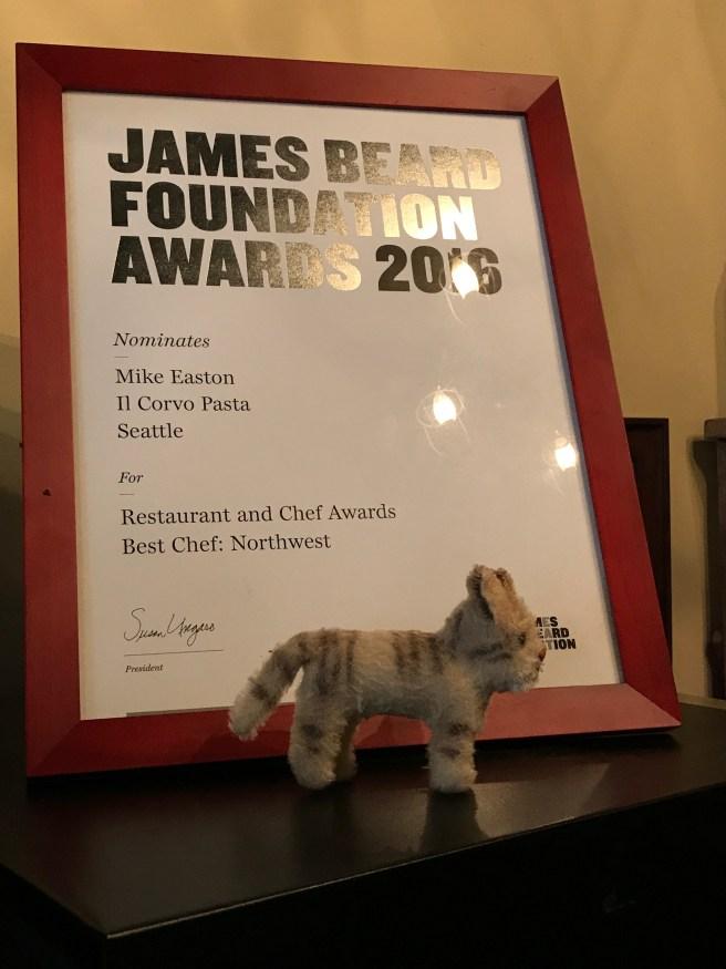 Frankie and the James Beard Award nomination