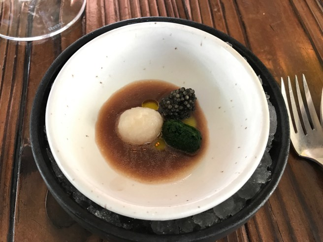 Chilled hakurei turnip soup