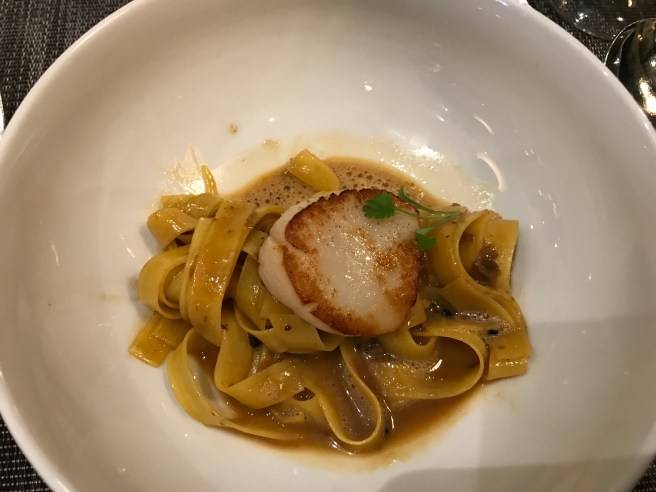 pasta and scallop