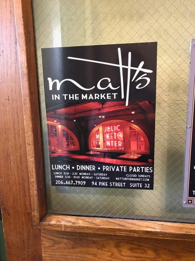 poster for Matt's