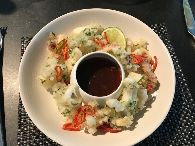 Tempura Squid with Vietnamese dipping sauce