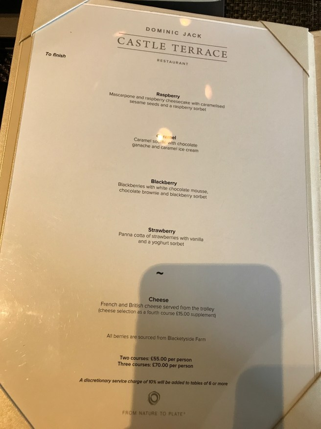 Autumn a la carte menu 3