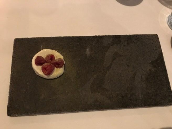 Raspberry, spruce, sansho