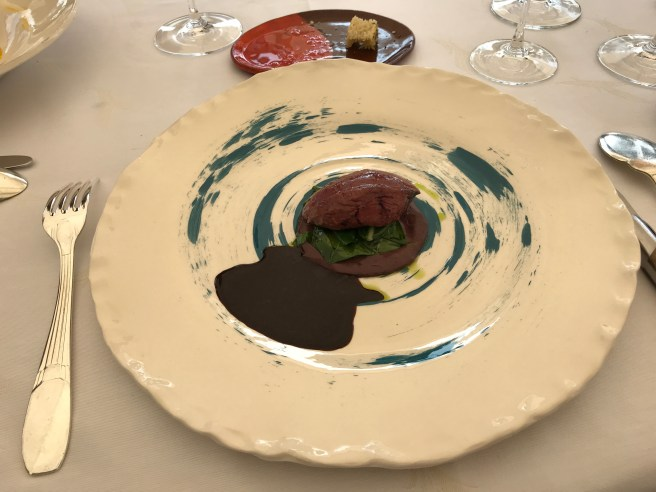 Creative: Young pigeon and Swiss chard