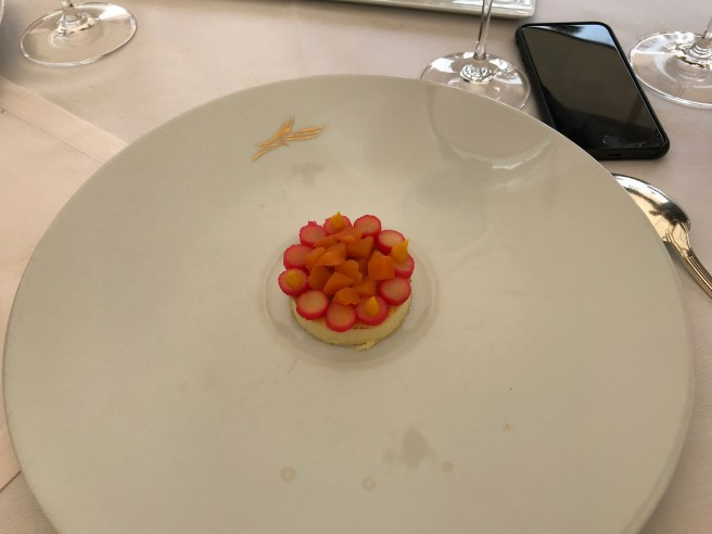 Orange and Pumpkin: Caramelized custard cream, poached pumpkin in orange juice