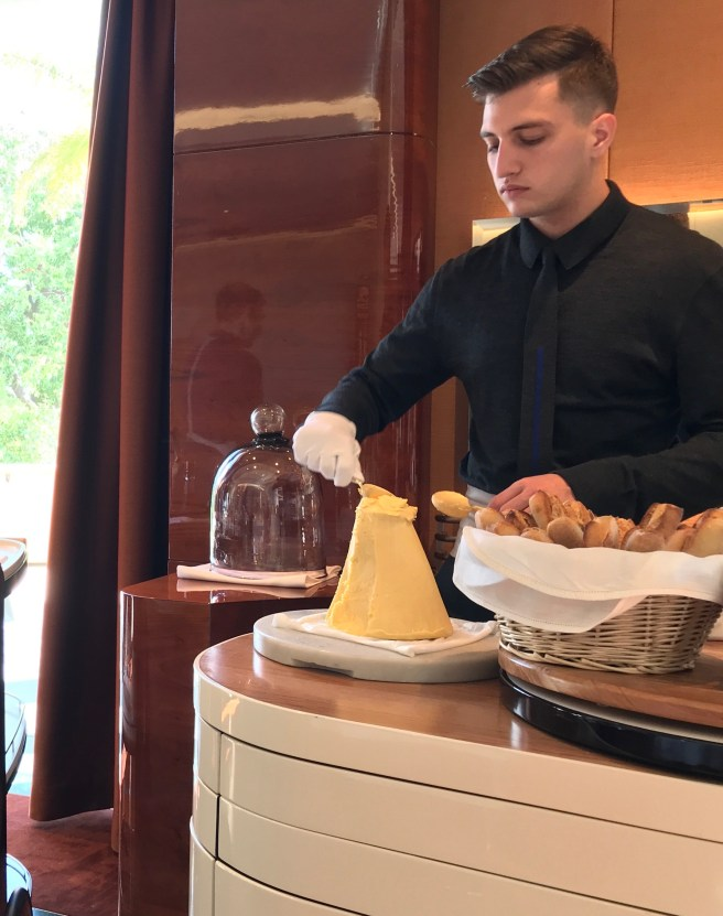 scooping butter for the table