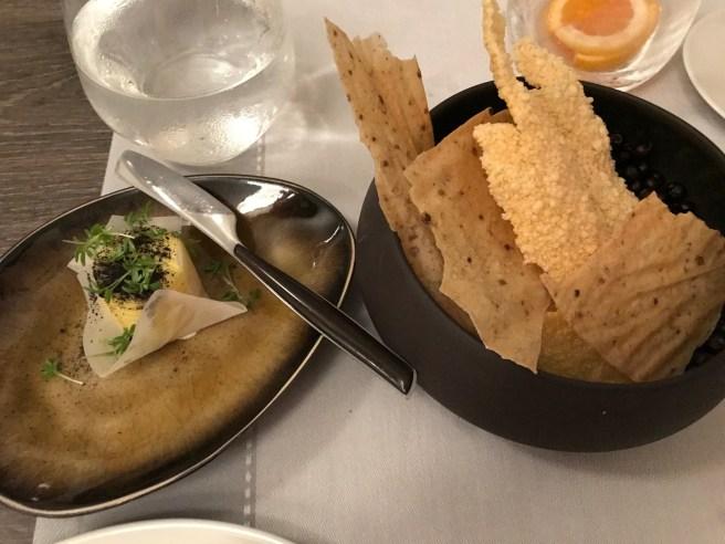 polenta chips and butter