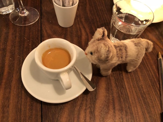 Frankie enjoyed some coffee