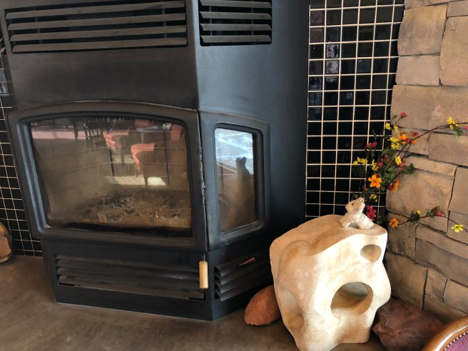 Frankie wanted to turn on the fireplace