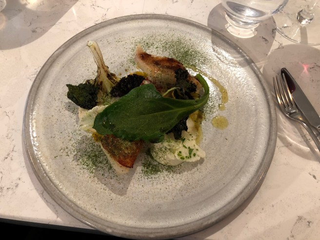 Cod, cauliflower, coriander, coocnut