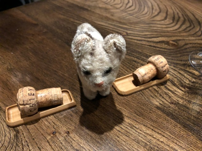 Frankie wanted lots of corks to play with