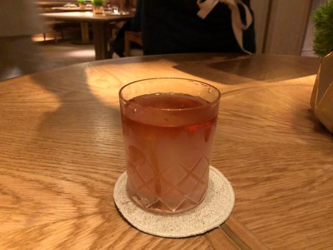 Guanyin's Cup: Wok Grilled rice, Elyx Vodka, lemon oil