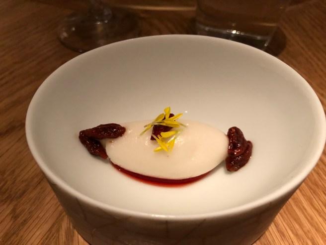 Fermented Rice Sorbet: Gogi Berry Vinegar