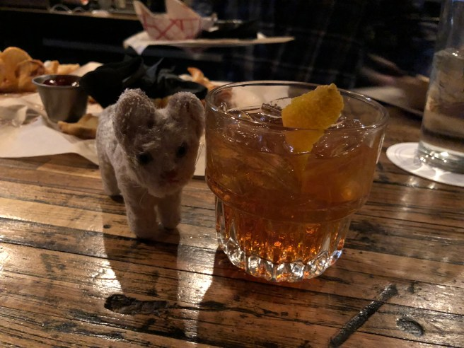 Frankie and a cocktail