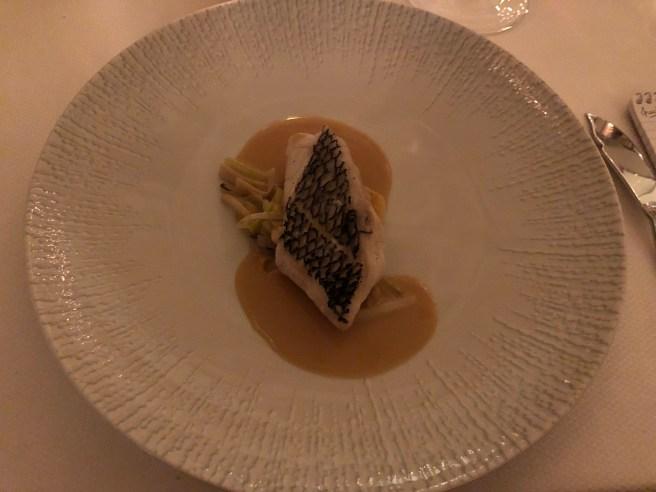 Wild Black Bass, salsify, sauce bretonne