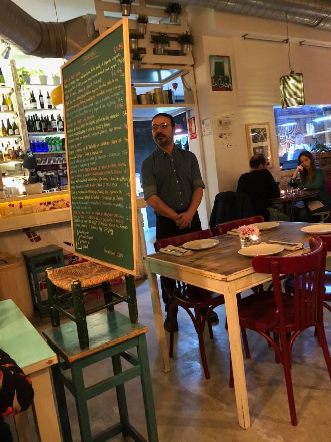 little chair props up menu