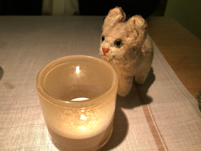 Frankie watched the candle