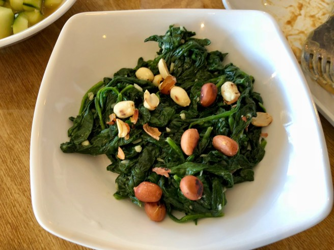 Spinach and Peanut salad