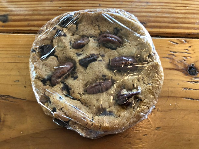 Chocolate chunk cookie with Texas pecans