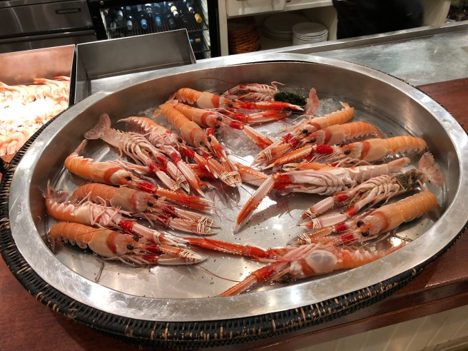 seafood at front