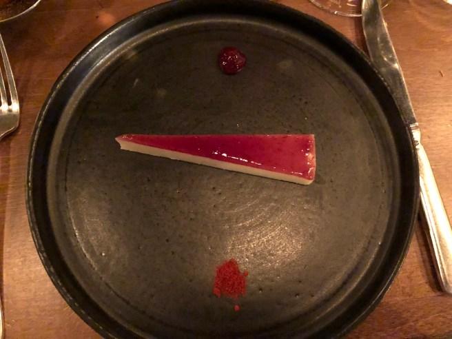 Ossau Iraty (cheese), black cherry jam and smoked chili