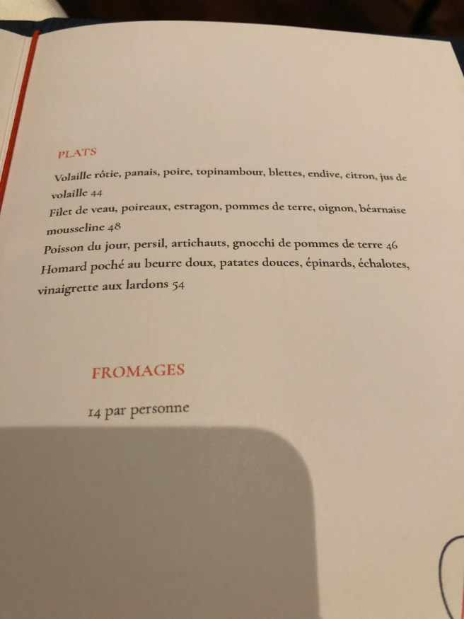 Menu 2 (French)