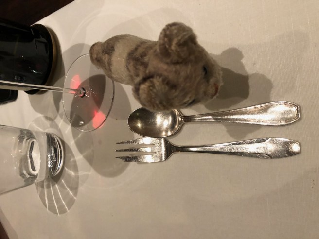 Frankie checked out the small flatware