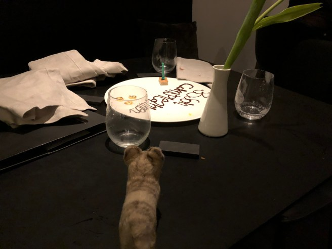 Frankie spied a special occasion plate