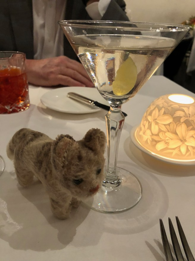 Frankie was surprised to see a lemon in my martini