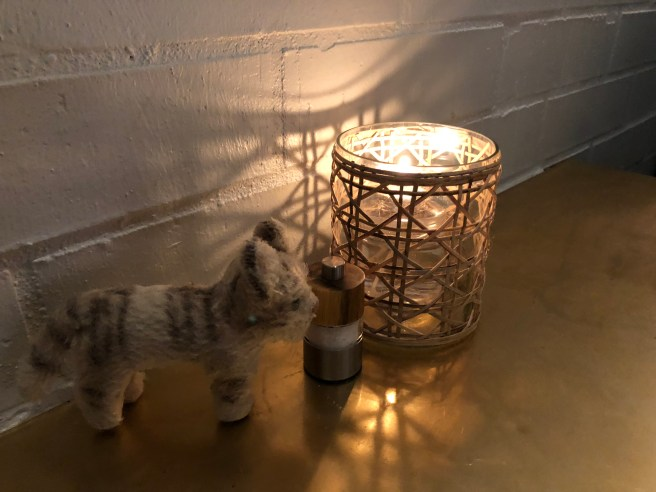 Frankie checked the candle and salt