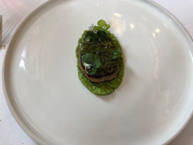 Foie Gras Seared with Asparagus and White Sesame