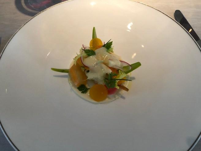 White asparagus vinaigrette