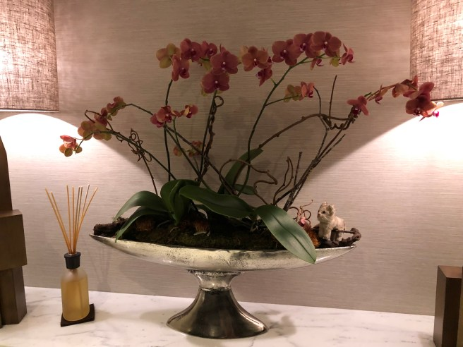 Frankie liked the orchid arrangement