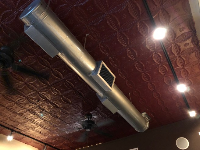 exposed duct work